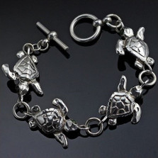 Baby Loggerhead Turtle Sterling Silver Bracelet | Nature Jewelry
