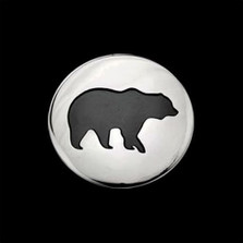 Bear Shadows Sterling Silver Pendant Necklace   Nature Jewelry