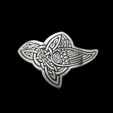 Celtic Bird Sterling Silver Pendant Necklace | Nature Jewelry