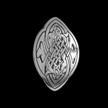 Dolphin Love Sterling Silver Celtic Pendant Necklace | Nature Jewelry