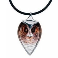 Owl Crystal Necklace Strix Small |  84126 | Nature Jewelry
