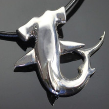 Hammerhead Shark Silver Pendant Necklace | Nature Jewelry
