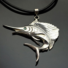 Sailfish Sterling Silver Pendant Necklace | Nature Jewelry