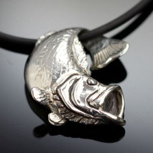 Bass Sterling Silver Pendant Necklace | Nature Jewelry