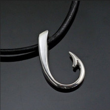 Hook Sterling Silver Pendant Necklace | Nature Jewelry