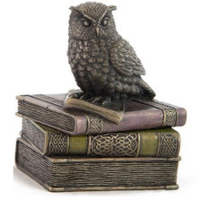 Owl On Books Trinket Jewelry Box