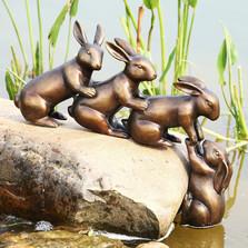 Helping Hand Rabbits Garden Sculpture | 34209