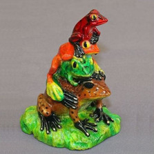 "Frog Bronze Sculpture ""All Stacked Up"""