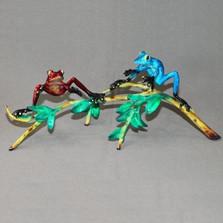 """Frog Bronze Sculpture """"Bosom Buddies"""""""