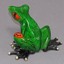 """Frog Bronze Sculpture """"Bugsy"""""""