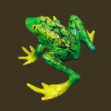"""Frog Bronze Sculpture """"Bumpy"""""""