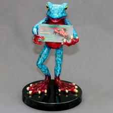 Frog Bronze Cardholder