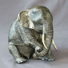 Elephant Bronze Sculpture Papa