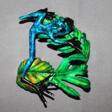 """Frog Bronze Sculpture """"Elvis"""""""