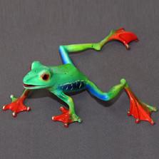 """Frog Bronze Sculpture """"Footloose"""""""