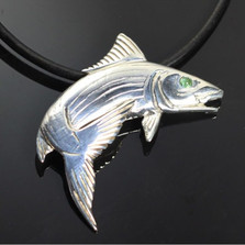 Bonefish Sterling Silver Pendant Necklace | Nature Jewelry