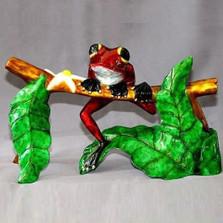 """Frog Bronze Sculpture """"Got Bugs?"""""""