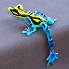 """Frog Bronze Sculpture """"Hang Over"""""""