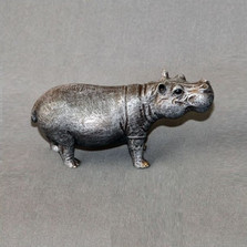Hippo Bronze Sculpture