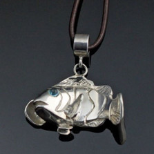 Clownfish Sterling Silver Pendant Necklace | Nature Jewelry