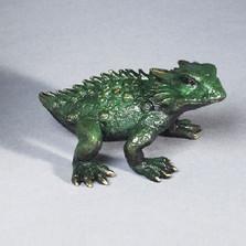 "Frog Bronze Sculpture ""Horned Toad"""