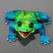 """Frog Bronze Sculpture """"Jason"""""""