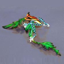 "Frog Bronze Sculpture ""Lazy"""