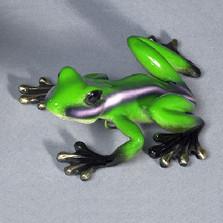 """Frog Bronze Sculpture """"Lola"""""""