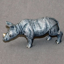 Rhino Baby Bronze Sculpture