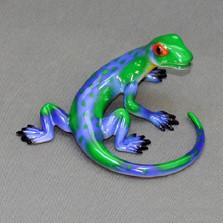 Lizard Bronze Sculpture Round