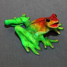"""Frog Bronze Sculpture """"Sammy"""""""
