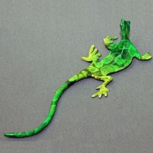 Lizard Bronze Wall Sculpture