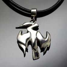Anhinga Sterling Silver Necklace | Nature Jewelry