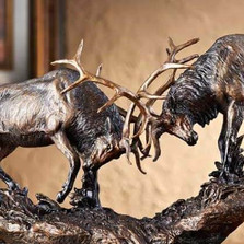 "Elk Sculpture ""Royal Battle"""