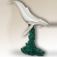 Whale Silver Plated Sculpture  2514