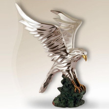 Eagle in Flight Silver Plated Sculpture | 2522
