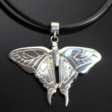 Butterfly Sterling Silver Pendant Necklace   Nature Jewelry