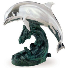 Single Dolphin Silver Plated Sculpture | 4003