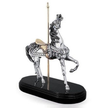 Carousel Horse Silver Plated Sculpture | 7508