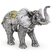 Elephant Limited Edition Silver Plated Sculpture | 7511