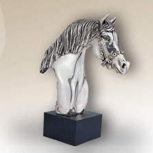 Horse Head Sculpture Silver Plated | 8033