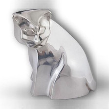 Cat Silver Plated Contemporary Sculpture | A49