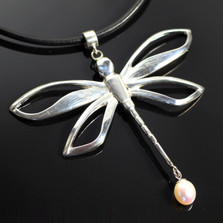 Dragonfly Sterling Silver Necklace   Nature Jewelry