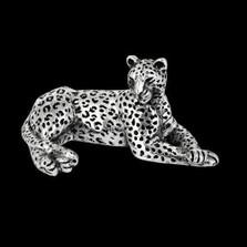 Leopard Silver Plated Sculpture | A502