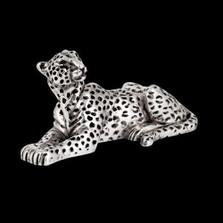 Leopard Silver Plated Sculpture | A503
