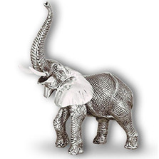 Elephant Silver Plated Sculpture | A53