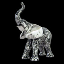 Elephant Baby Silver Plated Sculpture | A55