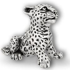 Leopard Cub Silver Plated Sculpture | A69