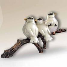 Birds Silver Plated Sculpture   A83