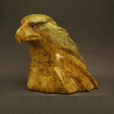 Eagle Bust Stone Sculpture